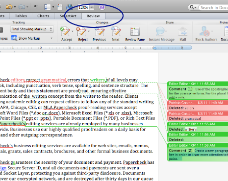 Word 2011 Editor Comments Example