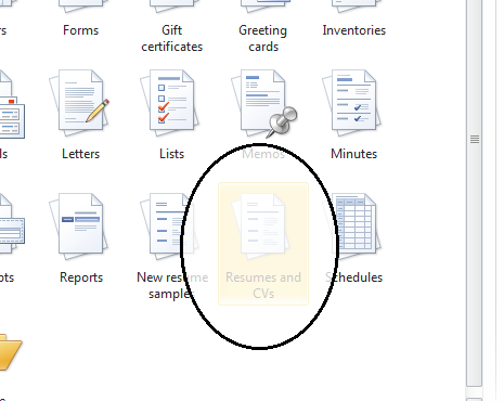 select resumes and cvs - Resume Templates On Microsoft Word 2010