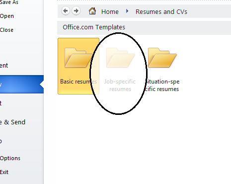 select resumes from several categories - Resume Templates In Microsoft Word
