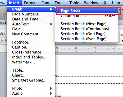 Microsoft table of contents word 2011 mac insert the table of contents pronofoot35fo Choice Image