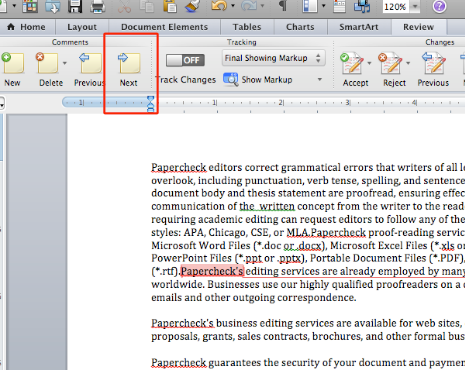 how to make a word document automatically scroll mac